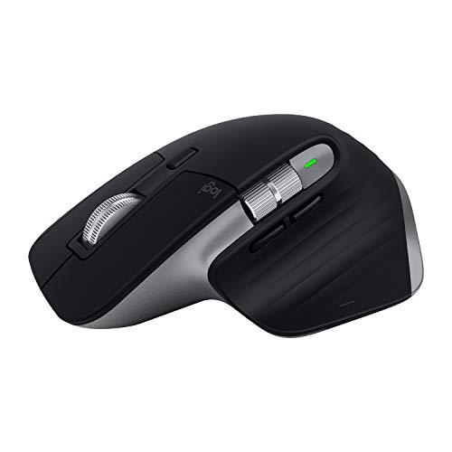 Logitech MX Master 3 - Souris sans fil pour Mac, défilement ultra-rapide, conception ergonomique, 4000 PPP, personnalisable, USB-C, basse consommation, Bluetooth, compatible Apple MacBook, iPad - Gris
