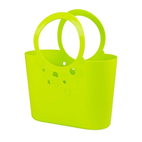 moderne Handtasche 14,8 L Picknickkorb limetten grün Size XL Griffe Lily Strandtasche Tasche Basket