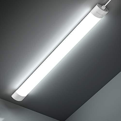 Anten Feuchtraumleuchte LED | 42W 150CM Deckenleuchte Röhre | 4800LM Kaltweiß 6000K Kellerlampe | IP65 Wasserdicht Garagelampe für Keller, Garage, Werkstatt usw.