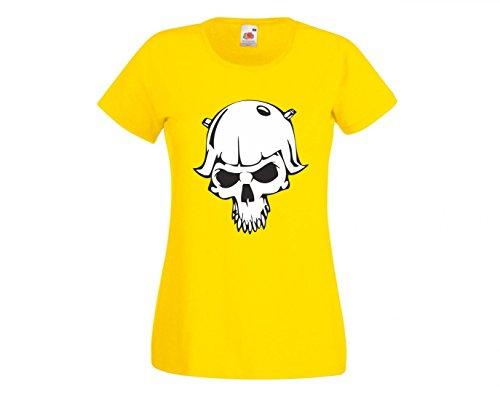 Camiseta de Calavera con Casco de rockero, Esqueleto, Rocker, Club de Moto,...