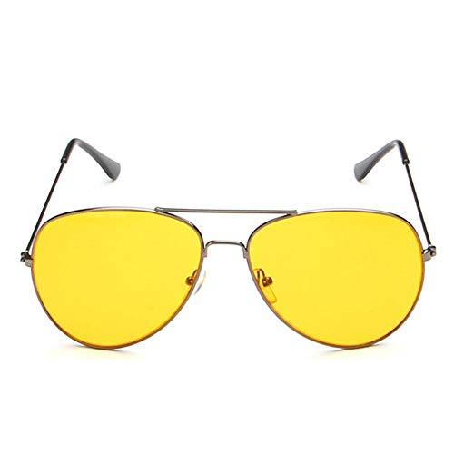 Tree-es-Life Gafas de Sol de Noche Gafas de conducción de visión Nocturna Antirreflejos Protección UV400 Gafas de Noche para Hombres Mujeres Plateado