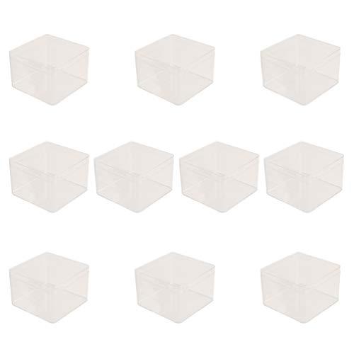 Cabilock 10Pcs Mini Dessert Doos Met Deksels Clear Plastic Bakkerij Voorgerecht Gevallen Kleine Herbruikbare Serveerschaal Voor Yoghurt Mousse Ijs Crème