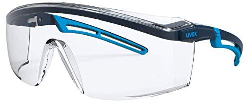 Uvex Arbeitsschutzbrille/Bügelbrille 9164 astrospec 2.0, blau/hellblau, Scheibe: farblos, 2-1,2