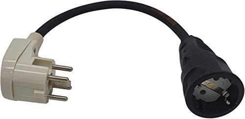 Adapter Perilex 16A Winkelstecker auf Schuko Kupplung ca 0,5m Kabel Titanex H07RN-F3G 2,5mm²