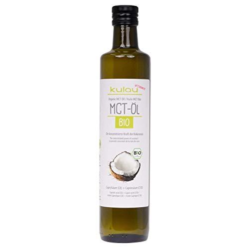 Kulau Bio-MCT Öl Kokosöl Extrakt - 100% Kokosnussöl - Geschmacksneutral Vegan & Paleo Ernährung, 500 ml