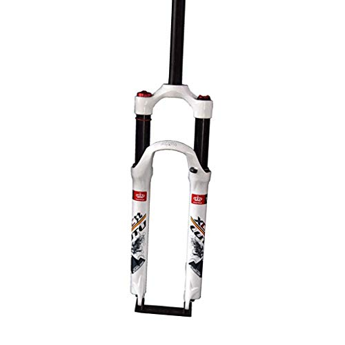 WHQ Suspension Fork 26 Inch Bike Air Forks, Remote Control Shoulder Control Straight Tube Cycling Unisex's Shock Absorber (Color : B, Size : 29 inch)