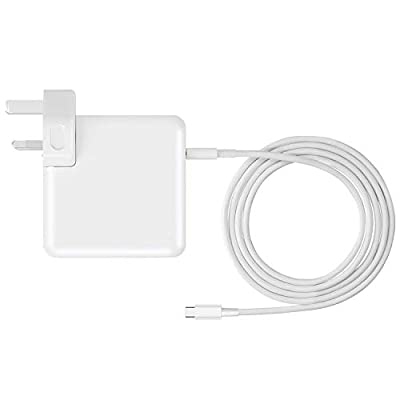 USB-C Charger 61W Type C Power Adapter 61W Compatible with Macbook 12 inch After 2015,for Macbook Air 13inch 2018,USB-C Charger for Macbook Pro 13 inch After 2016 (Charger with 2 meters USB-C Cable)
