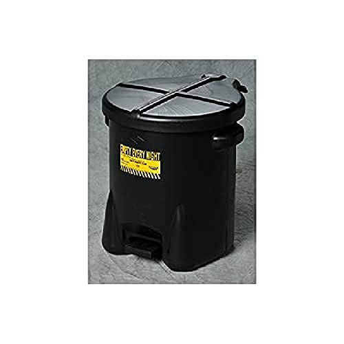 Eagle Company. 933FLBK Black Oily Waste Can, 6 gal Capacity. Pack of Three
