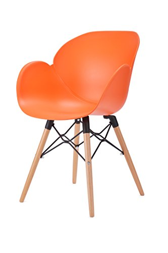 KADIMA DESIGN 1x Chaise Alston Orange, 85 x 58 x 59