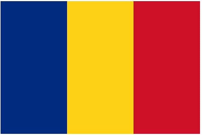 Set of 5 x Romania Flag Quantity limited Iron for Free Shipping New Print Fabri Transfers Screen on