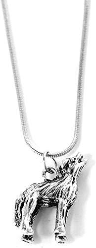 LKLFC Collar Mujer Collar Hombre Collar 1 Pieza Collar con Colgante nórdico Collar de Lobo Joyas de Animales Originales Cabeza de Lobo Gargantilla Colgante Collar Regalo Niñas Niños Collar
