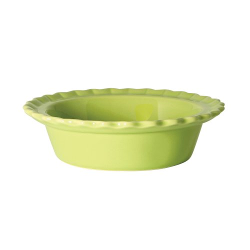 Chantal Classic Individual 5 Inch Pie Dish, Glossy Lime Green
