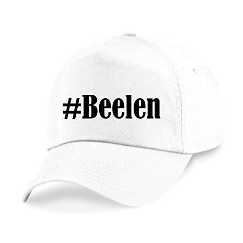 Base Cap Hashtag #Beelen Baseball Cap Basecap Hashtag ruit voor dames heren en kinderen in de trendy kleuren zwart en wit Hip Hop Streetwear Baseball-pet met het grote scherm