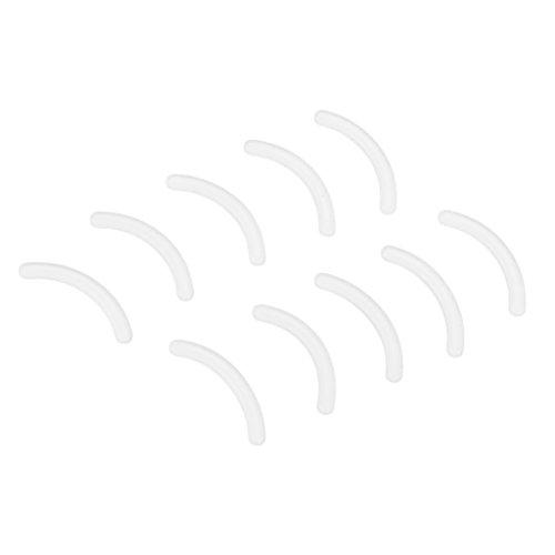 10 Stück Damen Ersatzgummi Ersatzpolster Wimpernzange Wimpernformer Pads, Bunt - Weiß