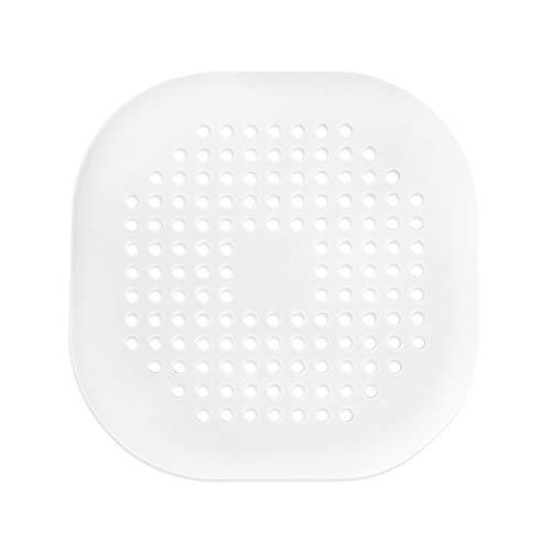 ITME 1PCS protezioni per scarico, Filtro per Lavello in Silicone con Ventosa, Filtro Raccogli Capelli per Doccia, Con ventosa, Adatto per Cucina e Bagno lavello, vasca (5.5  , Bianco)