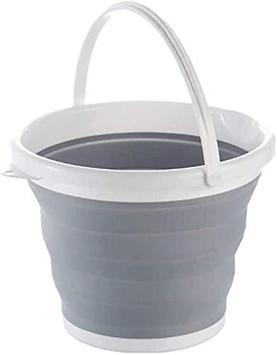 TXXM Mejora del Cubo de Agua Plegable con el Anillo de Refuerzo Camping Cocina Barriles de Pesca Plegable Colapible Baño Plegable Lavado de Coches Caña de Pescar (Color : 10L)