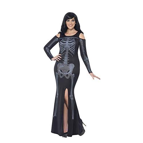 SMIFFYS Smiffy's 44336X2 - Curve di Scheletro Costume Nero con Il Vestito, X
