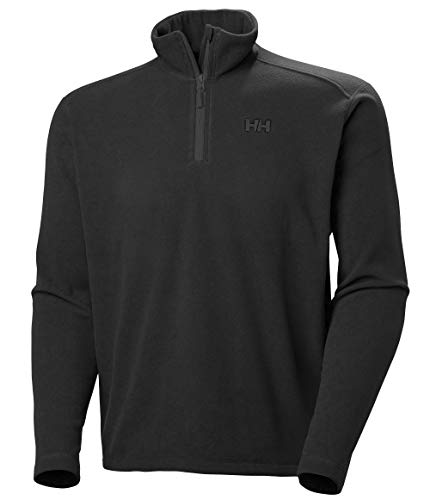 Helly Hansen Daybreaker 1/2 Zip Fleece Bufanda, Hombre, Negro, XL