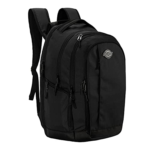 Dickies Laptop Backpack, Water Resistant College Computer Bag For School, Fits 15.6 Inch Notebook (Black)