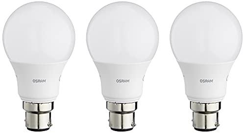 Osram Base Classic a Lampada LED, B22d, Bianco, 806 lm, 3 Unità, 8.5 W = 60 W