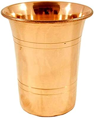 Set of 2 Hand Made Pure Copper Glass Tumbler Cup, Drinking Serving Water, Yoga Ayurveda, 200 Ml
