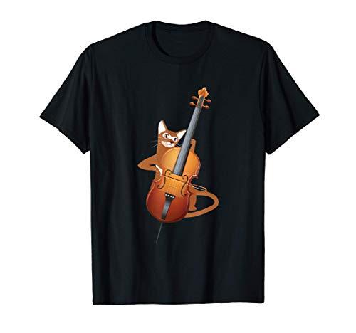 Violoncelo Gato Orquesta Msica Clsica Violoncelista Camiseta