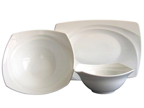 Creatable 13164, Serie Celebration Weiss, 3tlg Servierset, Porzellan, 35.5 x 26.5 x 25.5 cm, 3-Einheiten