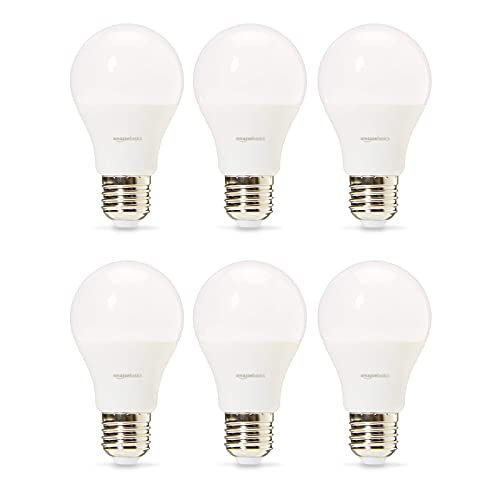AmazonBasics Professional - LED-Leuchtmittel, Edison-Schraubgewinde (E27), entspricht 60-Watt-Birne, Kaltweiß, 6 Stück