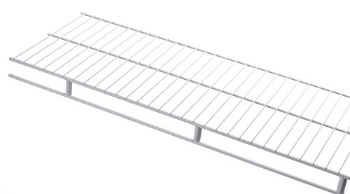 Rubbermaid 3D9900WHT Laminated Closet Shelf, 2-Inch by 4-Feet, White