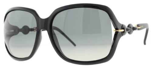 GUCCI 3584/S Sunglasses 03GT Black AE Dark Gray Ochre Lens 59-15-115: Gucci