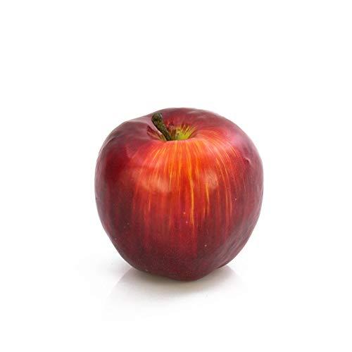 artplants.de Künstlicher Apfel dunkelrot, 6cm, Ø 6,5cm - Kunstobst - Dekoobst