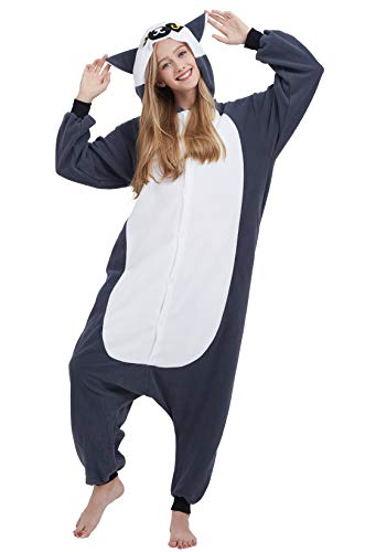 Pigiama Anime Cosplay Halloween Costume Attrezzatura Adulto Animale Onesie Unisex per Altezze da 140...