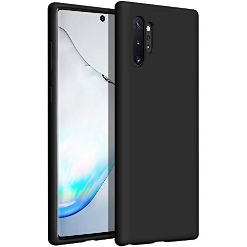 YATWIN kompatibel mit Handyhülle Samsung Galaxy Note 10 Plus Hülle Silikon, Ultra Dünn Flüssig Silikon Hülle Samsung Note 10 Plus 5G Hülle, Schutzhülle Samsung Note 10 Plus Hülle 6,8 Zoll Schwarz