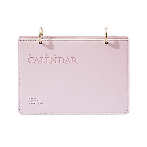 Y-POWER Calendario de escritorio de pie con tapa y fecha, bloc de notas para casa, oficina, horario diario, planificador de mesa, cuaderno