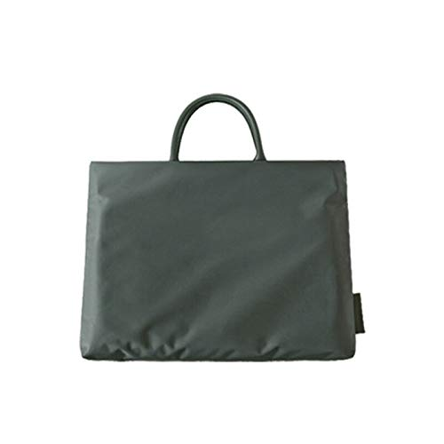 NEW waterproof Women business bag tote nylon bag office laptop bag notebook computer shoulder bags for work Shopping Bag (green,small)