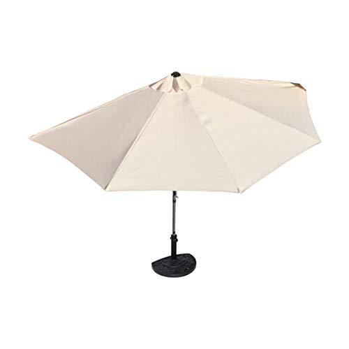 Pureday Sonnenschirm halbrund rechteckig für Balkone oder Terrassen Polyester/Metall, ca. 270 cm breit