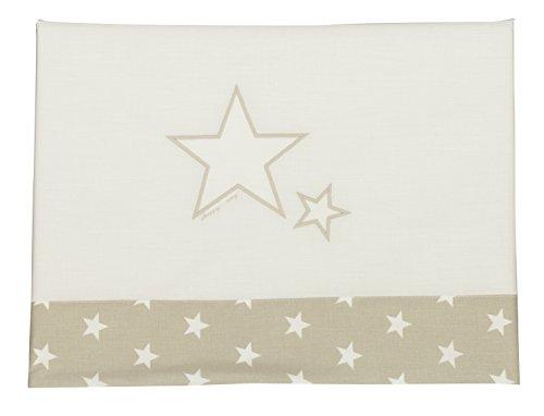 Happy Way Parure de lit unisexe avec étoiles Beige