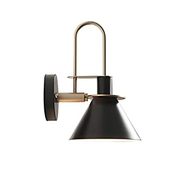 1 Light Nordic Wall Light Bedside Lamp,Led Remote Control Battery Operated Indoor Wireless Macaron Black Wall Sconce Light Fixture for Bedroom Bathroom Loft Wall Decor