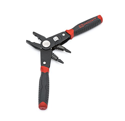 Crescent 2 in 1 Combo Dual Material Linesman's Pliers and Wire Stripper - CCP8V , Black