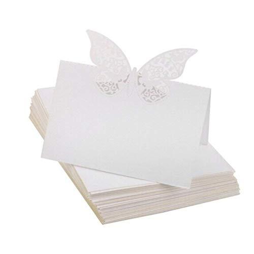 バタフライ 席札シート 座席カード メッセージカード ウエディング 結婚式 パーティー用 50枚/セット
