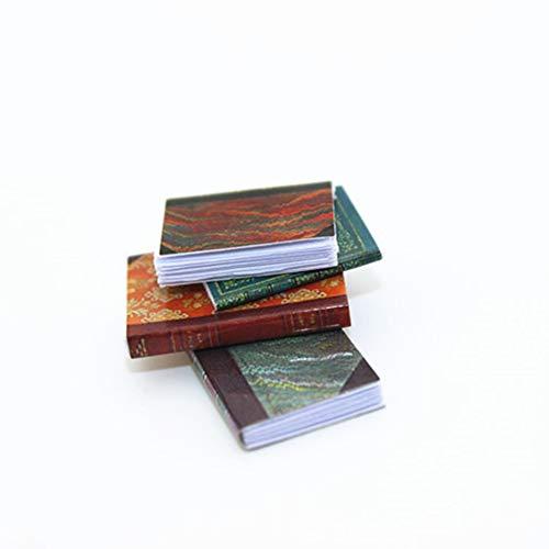 gzzebo Libro de simulación en Miniatura Libro Modelo DIY Casa de muñecas...