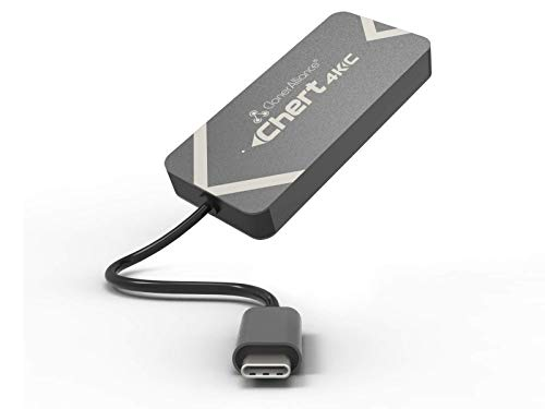 ClonerAlliance Chert 4KC, HDMI naar USB-C Video Capture Dongle, Ultra Low Latency, Speel Game Consoles op Laptop, Driver Free, 4K Input ondersteund.