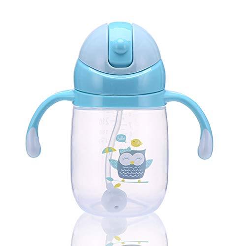 Noah Glamoureuze 240Ml Sippy Cup Anti-lek Veiligheid Eend Fles Kids Baby Training flessen Bl