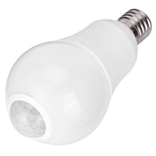 Fybida con SMD2835 Perlas de lámpara Bombilla con Sensor de Movimiento Bombilla de inducción infrarroja Detección Inteligente Durable Resistente a la presión para Balcones(White Light)