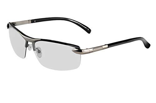 Zodight Gafas de sol Hombre Polarizadas Fotocromáticas UV Protección Gafas ciclismo Unisexo Gafas Deportiva Oscurecimiento Automático Montura Metálica para Running Golf Pesca Correr Conducir-Gris