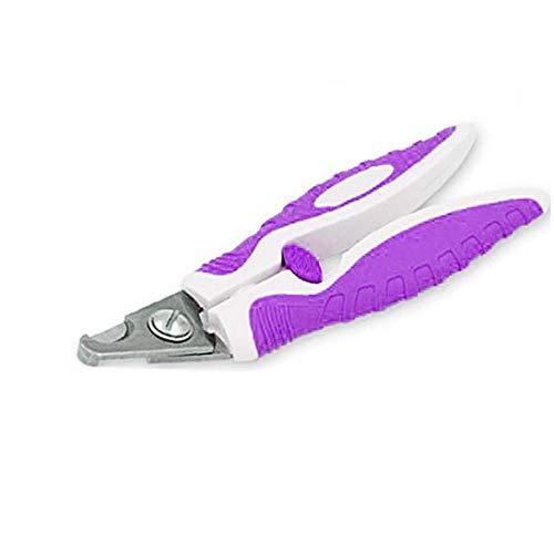 1 Set Professional Pet Nagelknipser Cutter Edelstahl Sicher, Sharp für Katzen-Welpen Freies Feile inklusive Lila Kleine