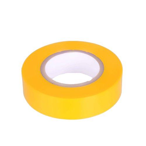 K24–Klebebänder–Nastro isolante in PVC 10metri di lunghezza 15mm di larghezza–giallo -