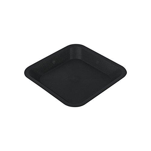 Cultivalley 5-STK Viereckiger Profi Topf-Untersetzer, Außenmaß 25x25cm & Innenmaß 17,4x17,4cm, Hochwertiger PP Kunststoff, Perfekt für eine effiziente Bewässerung