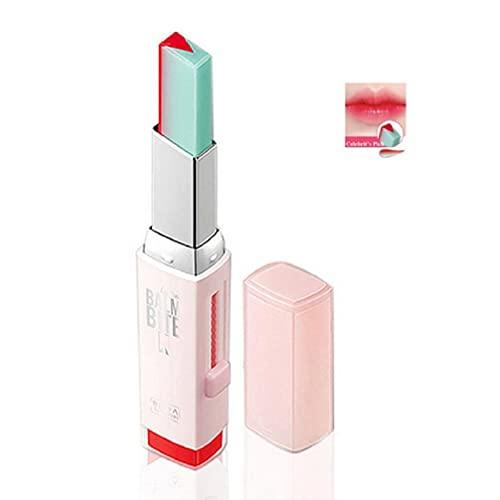 Berrywho 1 stück Zweifarbige Lippenstift Feuchtigkeitsspendende Gradientenlippenstift Langlebiger Lippe Blam wasserdichte Tönungslippenstange Kosmetik Geschenk für Frauen Mädchen (3 Pomelo Mint)