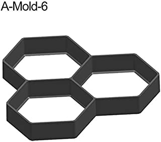AquatMold Stepping Stone Molds - New Black Plastic Making DIY Paving Mould Home Garden Floor Road Concrete Stepping Driveway Stone Path Mold Patio Maker